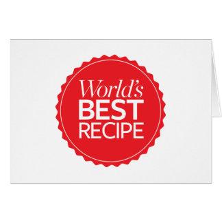 World's Best Recipe Card