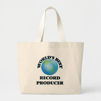 World's Best Record Producer Canvas Bags