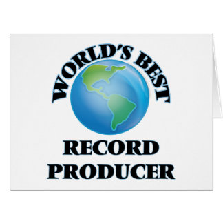 World's Best Record Producer Greeting Cards