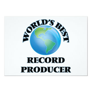 "World's Best Record Producer 5"" X 7"" Invitation Card"