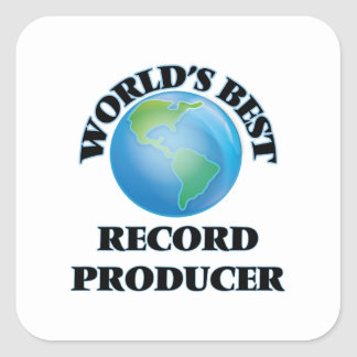 World's Best Record Producer Square Sticker