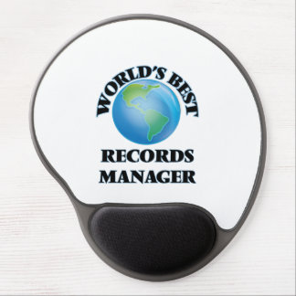 World's Best Records Manager Gel Mousepads