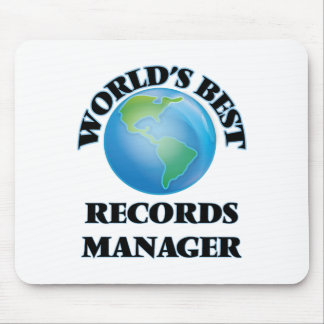 World's Best Records Manager Mouse Pad