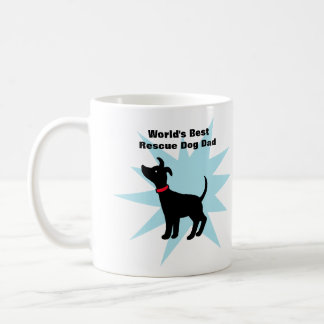World's Best Rescue Dog Dad Mug Shelter Dog Dad