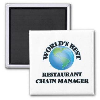 World's Best Restaurant Chain Manager Fridge Magnets
