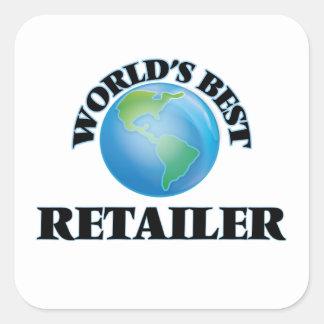 World's Best Retailer Square Sticker