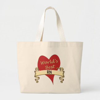 World's Best RN Large Tote Bag