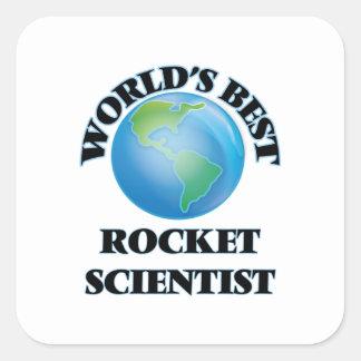World's Best Rocket Scientist Square Sticker