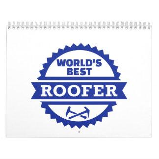 World's best roofer wall calendars