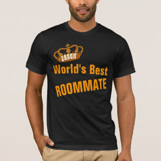 World's Best ROOMMATE Vintage Gold Crown A14 T-Shirt