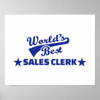 World's best sales clerk poster