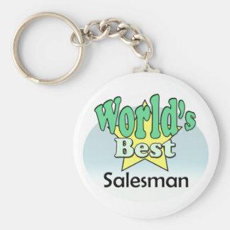 World's best Salesman Basic Round Button Key Ring