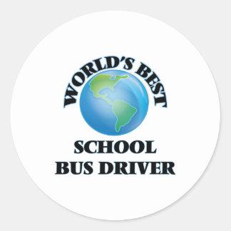 World's Best School Bus Driver Round Sticker