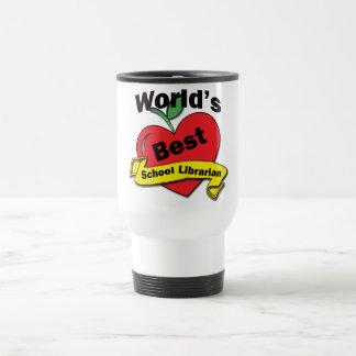 World's Best School Librarian Stainless Steel Travel Mug