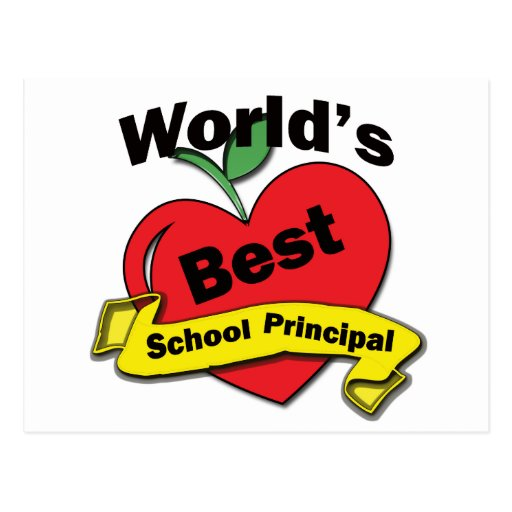 World's Best School Principal Postcard | Zazzle