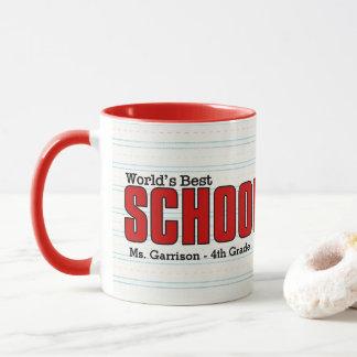 World's Best Schoolteach Funny Speak My Mind Mug