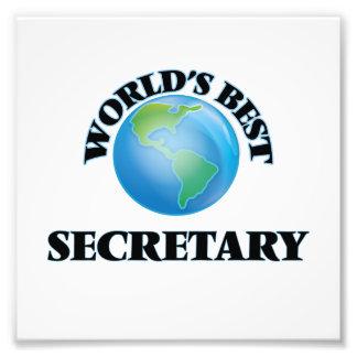 World's Best Secretary Photo Print