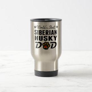 World's Best Siberian Husky Dad Stainless Steel Travel Mug