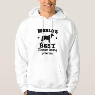 Worlds Best Siberian Husky Grandma Hoodie