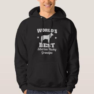 Worlds Best Siberian Husky Grandpa Hoodie