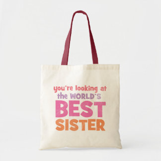 World's Best Sister Budget Tote Bag