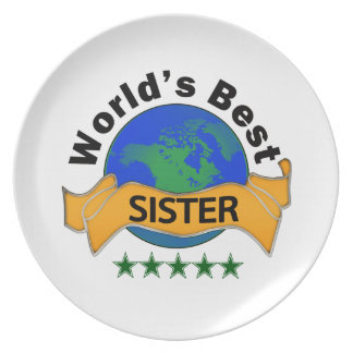 World's Best Sister Dinner Plates