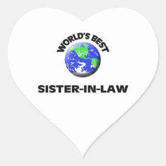 World's Best Sister-In-Law Heart Sticker