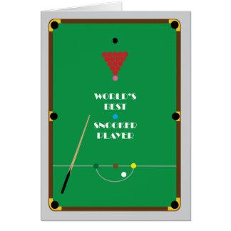 World's Best Snooker Player Card