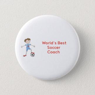 World's Best Soccer Coach 6 Cm Round Badge