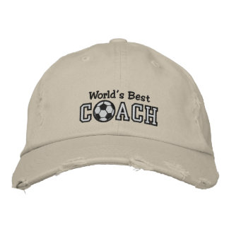 World's Best Soccer Coach Embroidered Baseball Cap