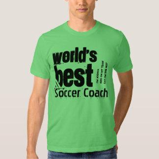 World's Best Soccer Coach Letters Custom Name Shirt