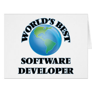World's Best Software Developer Greeting Cards