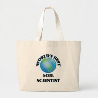World's Best Soil Scientist Canvas Bags