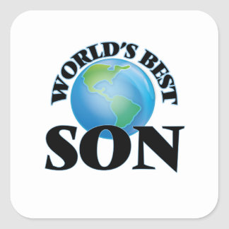 World's Best Son Square Sticker