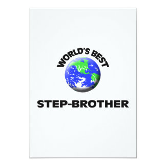 World's Best Step-Brother Personalized Invites