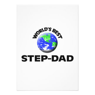 World's Best Step-Dad Personalized Announcements