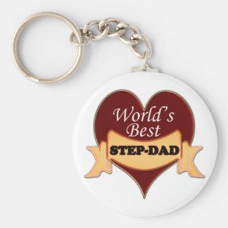 World's Best Step-Dad Key Ring