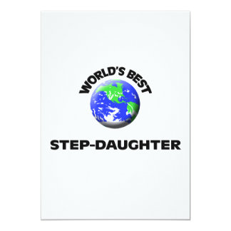 World's Best Step-Daughter Personalized Announcements