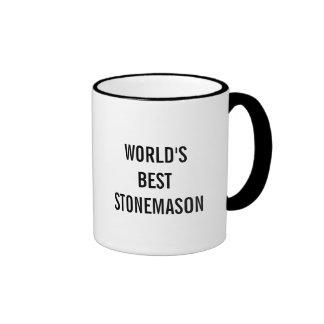 World's best Stonemason Ringer Mug