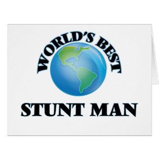 World's Best Stunt Man Card