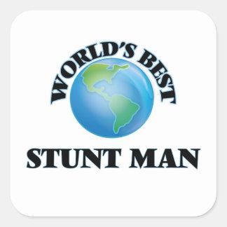 World's Best Stunt Man Square Sticker