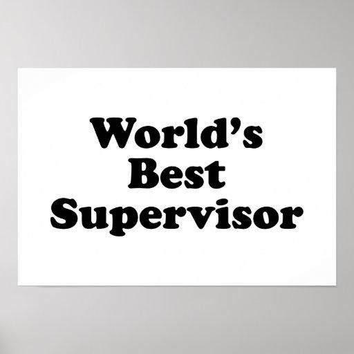 World's Best Supervisor Posters