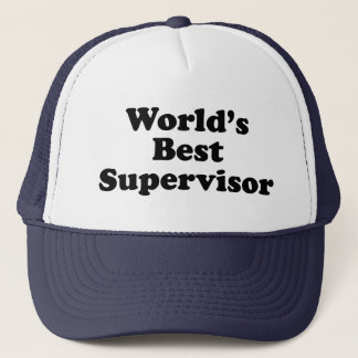 World's Best Supervisor Trucker Hat