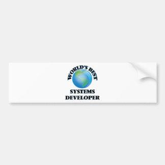 World's Best Systems Developer Bumper Stickers