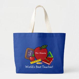 World's Best Teacher 2 Large Tote Bag