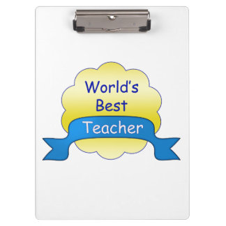 World's Best Teacher Clipboard
