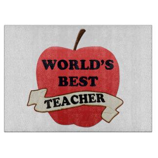World's Best Teacher Cutting Board