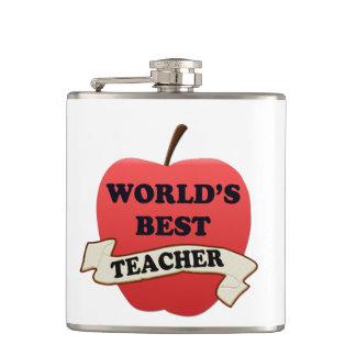World's Best Teacher Hip Flask
