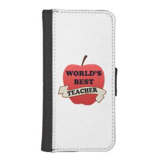 World's Best Teacher iPhone SE/5/5s Wallet Case