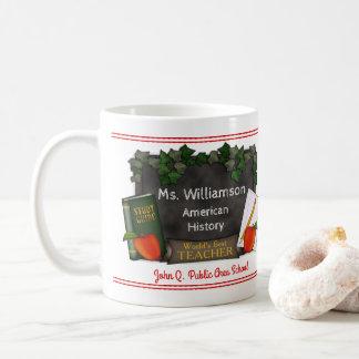 World's Best Teacher Name | School | Subject Coffee Mug